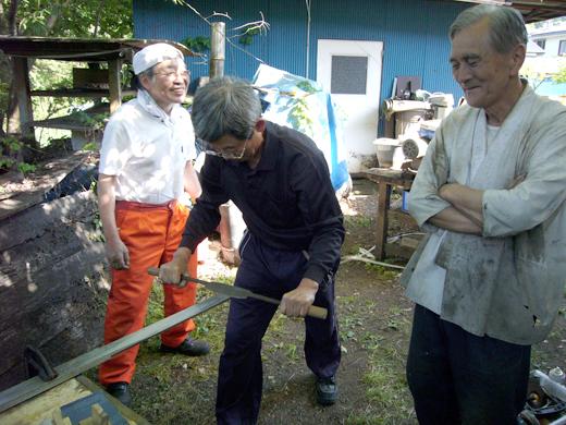 直刀(2.5m)研磨作業奮闘記